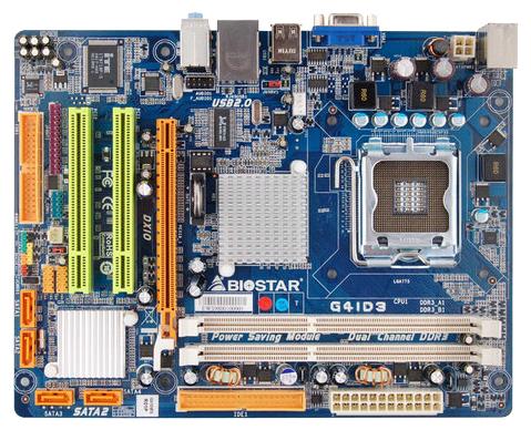 Motherboard specification Biostar G41D3 Ver  6 x